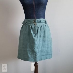 Urban Outfitters linen mini skirt with belt